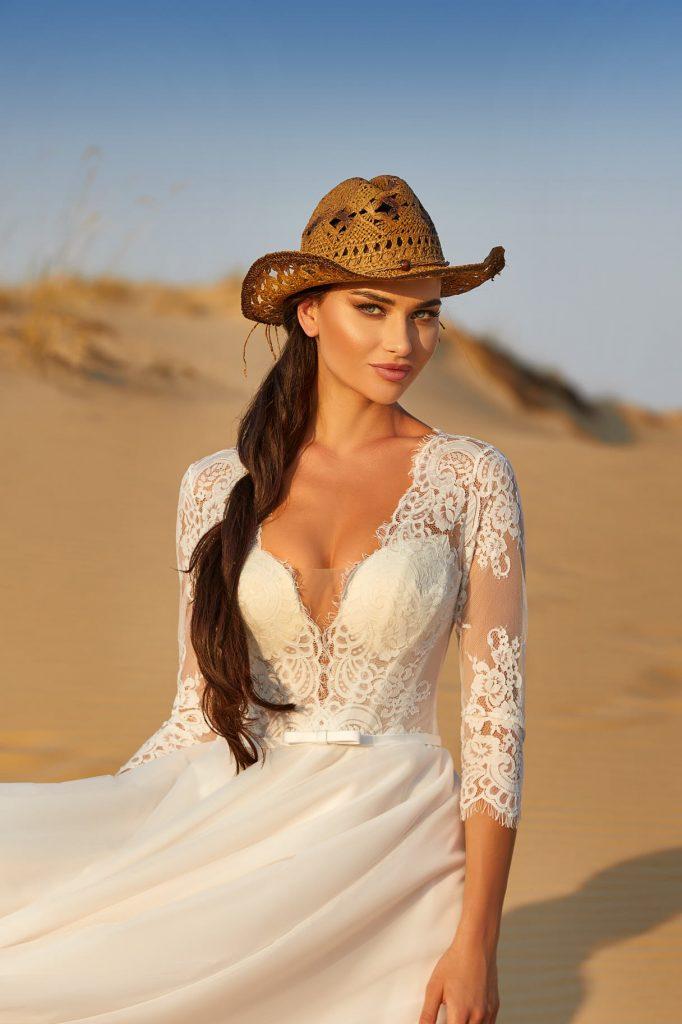 Trouwen in western stijl