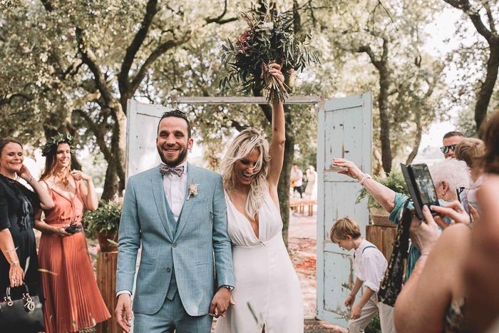 Bohemian stijl bruiloft