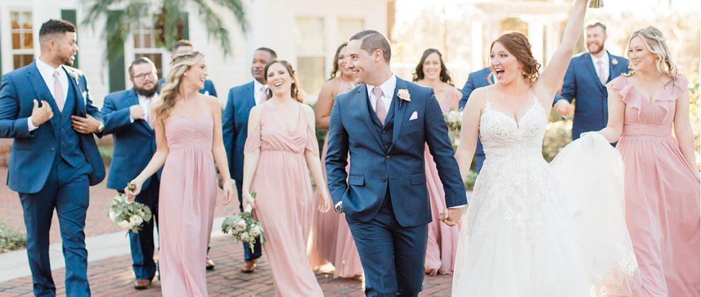 Blush trouwjurken